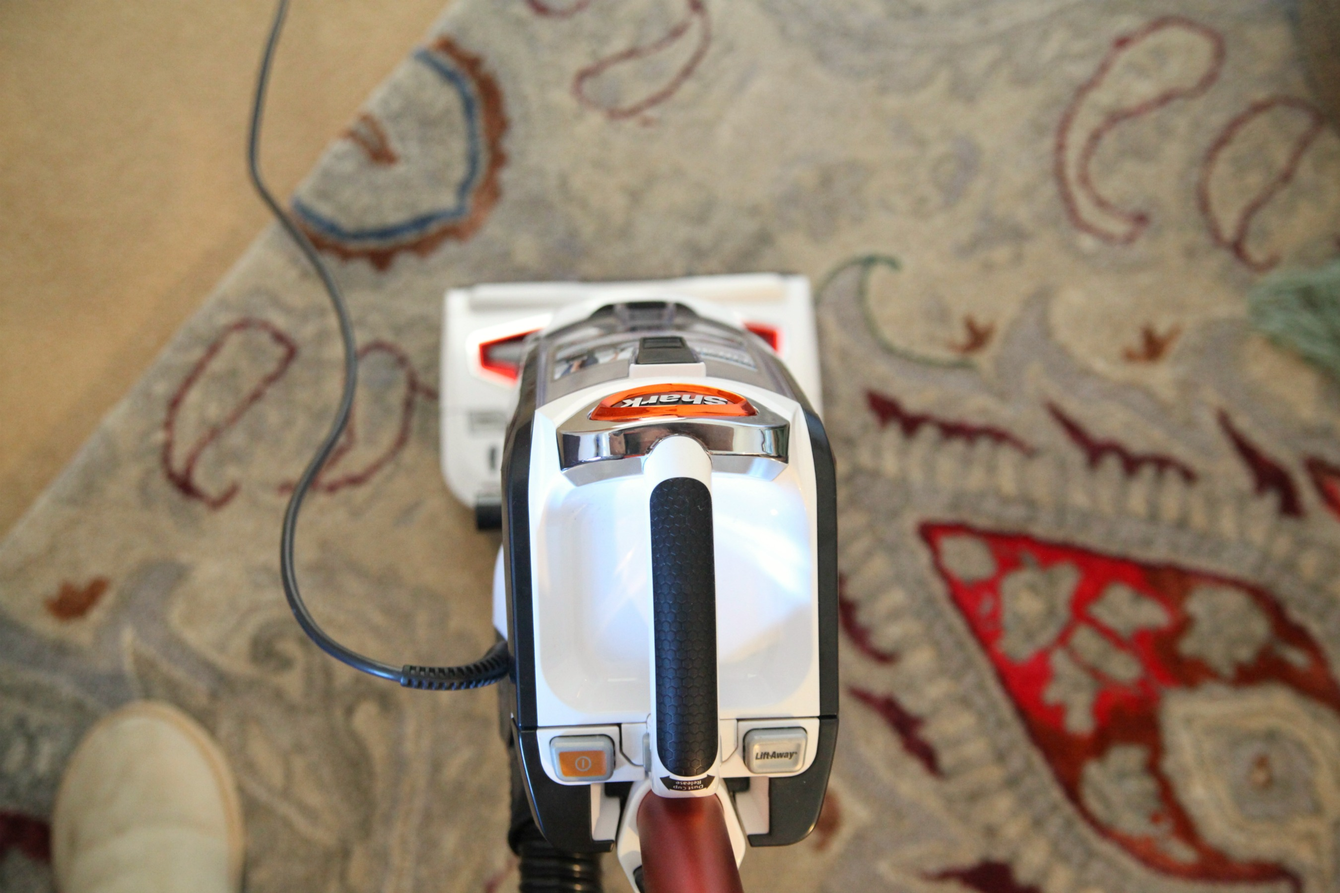 The Shark DuoClean easily tackles carpets and hard floors alike