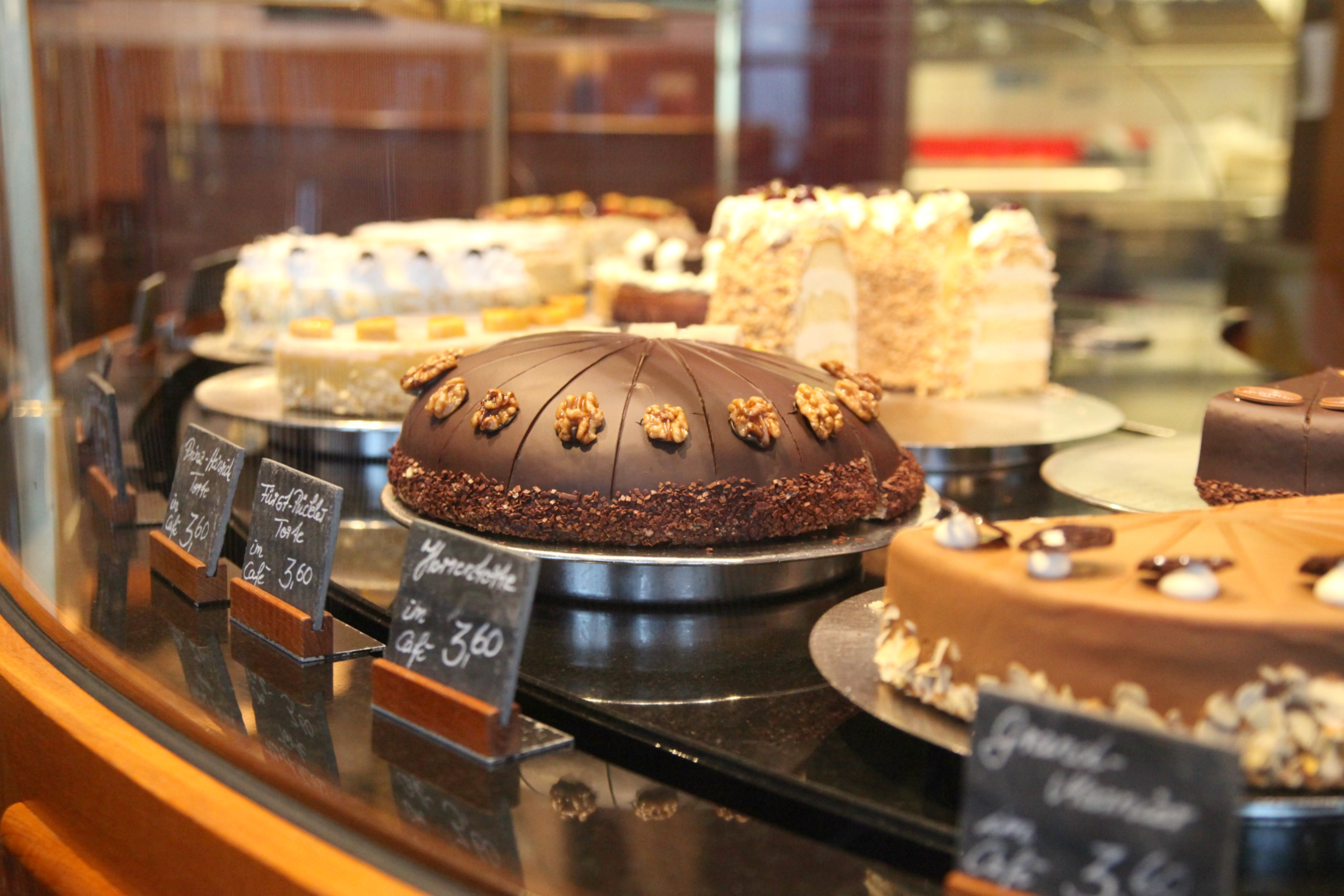 Fantastic cakes at Cafe Niederegger in Lübeck
