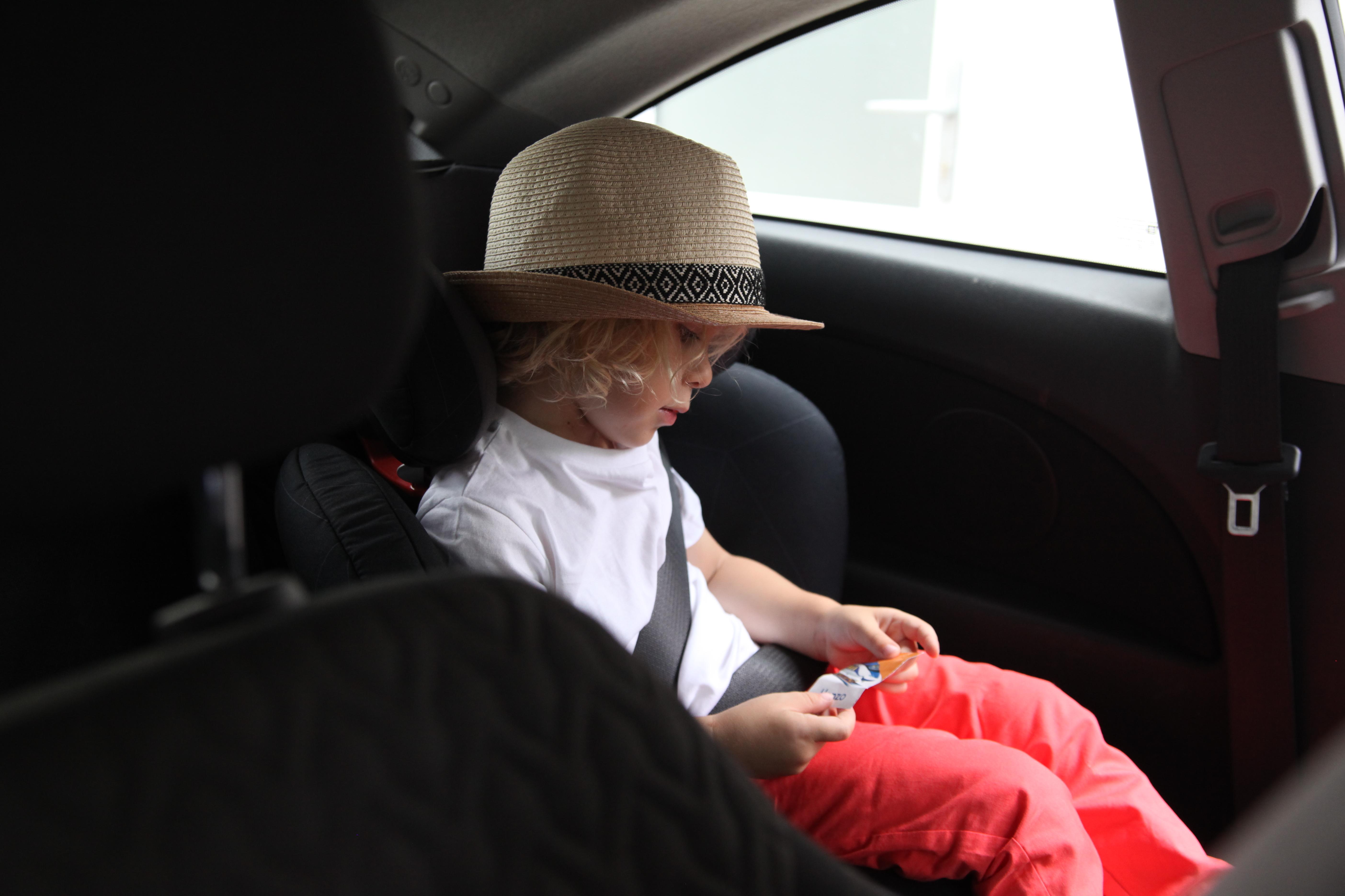 Comfortable in the Maxi Cosy Rodifix car seat