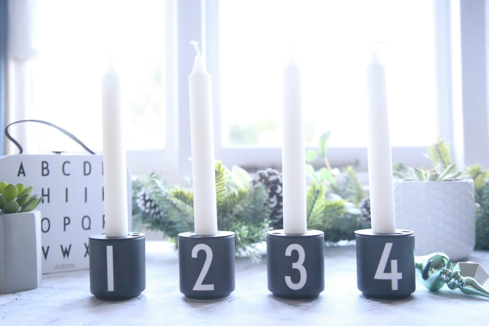 Espresso cups that transform into candle holders for Christmas from Design Letters
