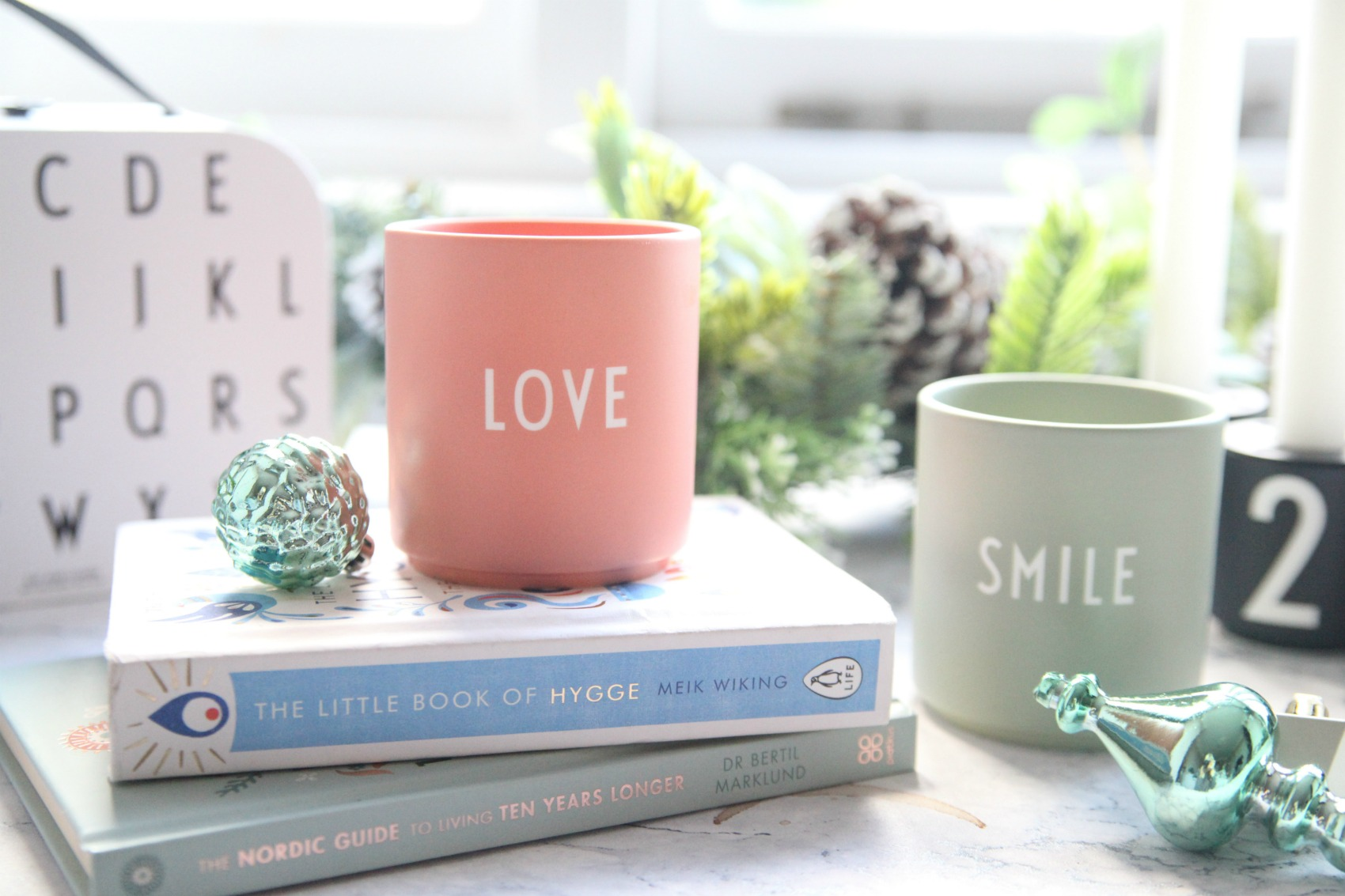 Love and Smile mugs from Design Letters
